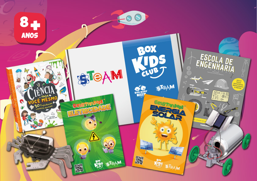 Box Kids Club STEAM Clube de Assinatura de Criatividade